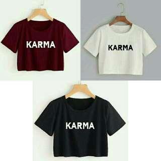 Crop tee Karma