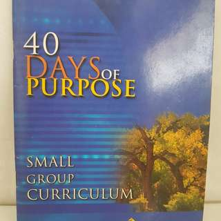 40 days of purpose -small group curriculum