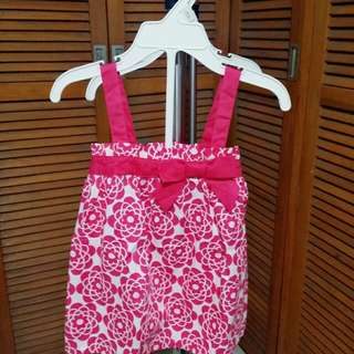 Fuschia Pink Printed Blouse with Shorts