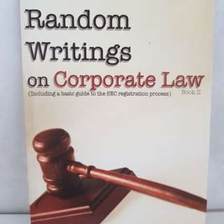 Random Writings on Corporate Law