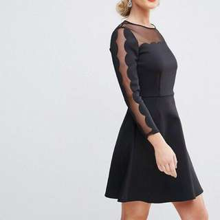 Ted Baker mesh panelled skater dress
