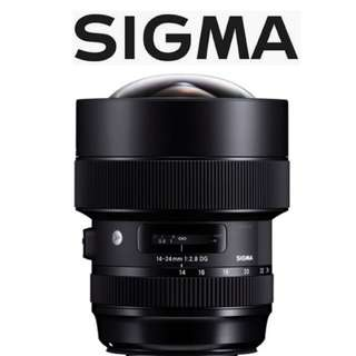 Sigma 14-24mm F2.8 ART Lens for Canon & Nikon mount