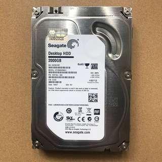 100% Work 2TB硬碟 Seagate 新淨 ST2000DM001