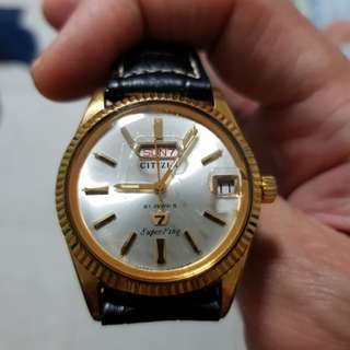 Vintage citizen super king watch nice gold color.wat u c wat u get