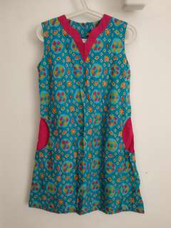 Dress Batik Warna Cerah