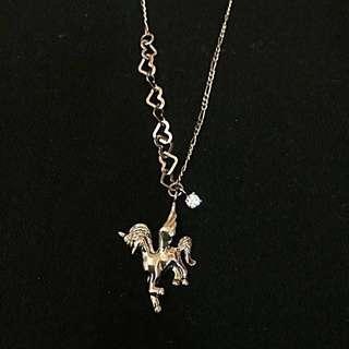 🚚 專櫃品牌yume 祈願獨角獸 飛馬造型項鍊 925純銀
