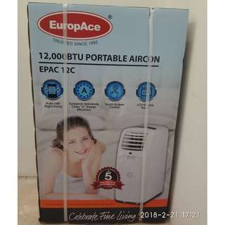 Brand new (box not open) portable air con for sale (12000 BTU) EuropAce EPAC 12C