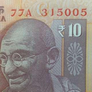 2016年 亞洲 印度10盧比 315005