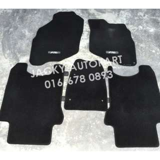 Floor Mat Karpet Hitam Honda Jazz Fit Gd1 Gd3 Jpn