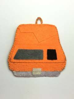 Offer!! Vintage public phone felt keychain ornament