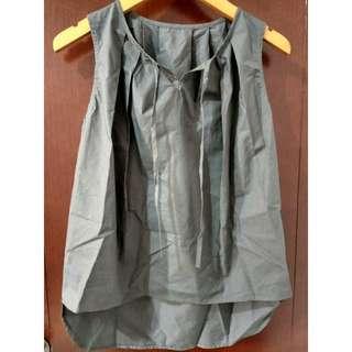 Baju atasan blouse tank top grey  import bangkok