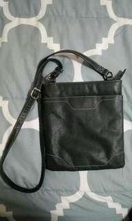Dark green satchel