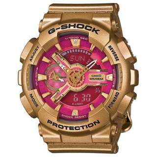 CASIO G-SHOCK S 110 series GMA-S110GD 桃紅金 GSHOCK GMAS110GD