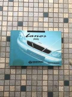 2001 Daewoo Lanos original owner handbook