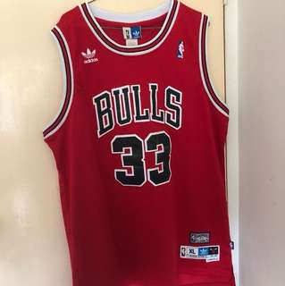 Authentic Adidas Haywood Scotty Pippen Bulls Jersey 95-96