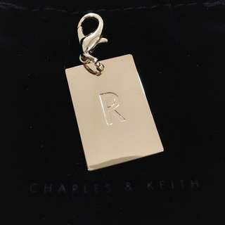 BNIB Charles & Keith Light Gold Charm Pendant