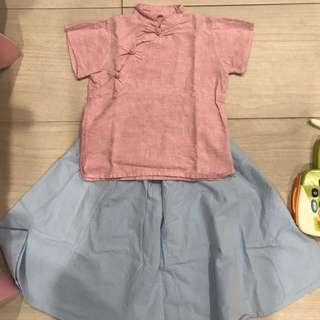 Girls Traditional 2pcs set