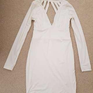 Kookai long sleeve white dress