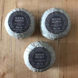 3pcs MOLTEN BROWN Ultra Pure Milk Soap Bars