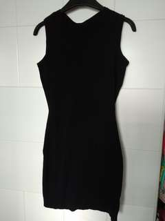 Black Knit Bodycon Dress