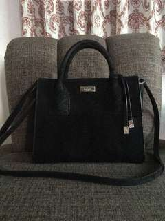 Kate Spade Elsie Street Exotic Leather Small Meriwether Satchel - Black