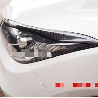 Honda Vezel eye lids (Carbon fibre)