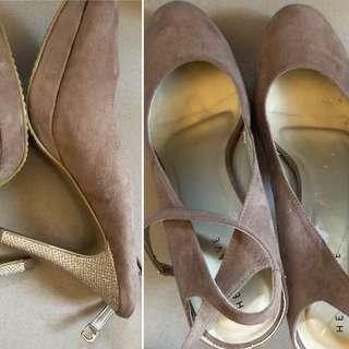 Heatwave Taupe Heel Shoes