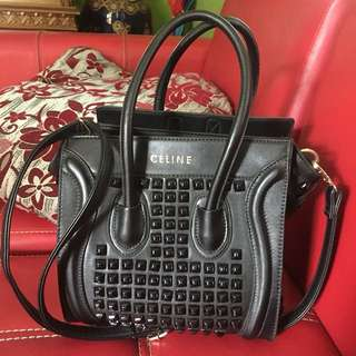 CELINE STUDED BLACK