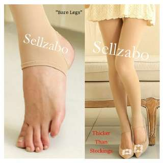 Looking Bare Legs Natural Flesh Nude Colour Free Size Long Pants Sellzabo Conceal Legs Scars Wounds Beige Tights Warmth #L27 Ladies Girls Women Female Lady