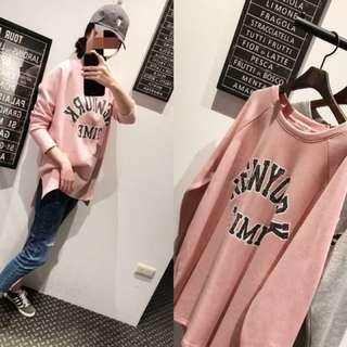 🚚 正韓❤️粉色大學tee 購於Bambie