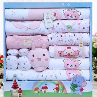 [NEW] New Born Set for Baby Girl - 18pcs