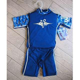幼童( 1 歲 合穿)浮水泳衣 M 碼夾海綿 Swimline 95% New