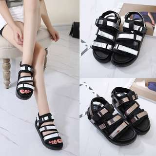 2018 new fashion wild leisure with muffins thick bottom Velcro shoes beach sandals