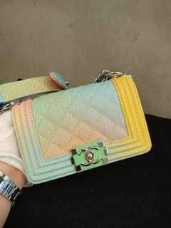 Chanel boy 15cm rainbow