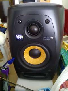 KRK VXT4 active studio monitors pair