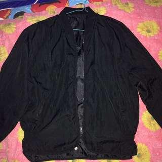 Black Bomber Jacket Parasut