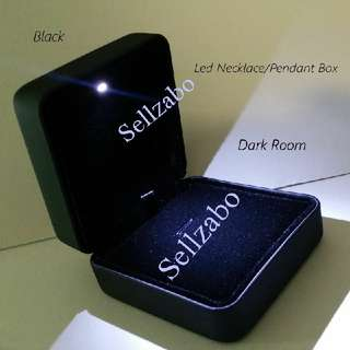 Neck Chains Necklaces Neckchains Pendants Box Boxes Case Cases Casings Holders Gift Black Colour Led Light Sellzabo