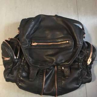 Alexander Wang large Marti Backpack Rosegold背囊