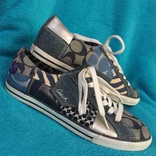 Coach Tonya Denim patch work sneakers