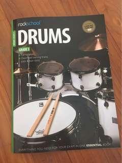 Rockschool Grade 3 Drums Exam book