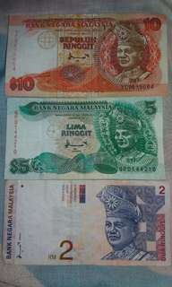 Old currency money