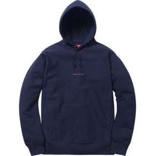 Supreme Compact Logo Hooded 深藍XL 帽Tee