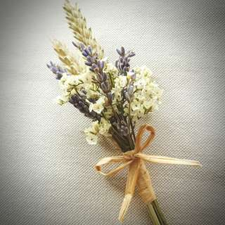 Wedding Flowers: Lavender Boutonnieres and Corsages