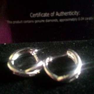 Analise Real Diamond hoop Earrings on 92.5 Silver