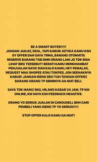 BE A SMART BUYER!!!!!