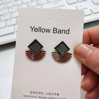 韓國東大門 《yellow band》熱力四射簡約耳環