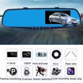4.3 Display Car Dashcam with Rear Cam