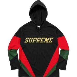 Supreme Hooded Hockey Jersey 黑L Gucci 配色