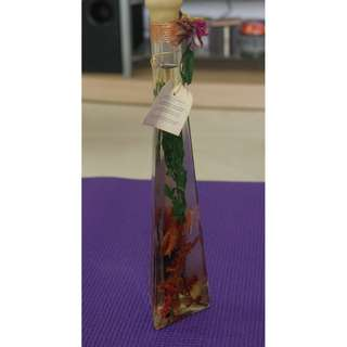 Paradise Luxury Range Bottle Ht 33 cm Triangle Base one side 7 cm