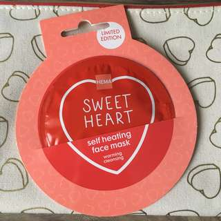 Hema Sweet Heart self heating face mask limited edition